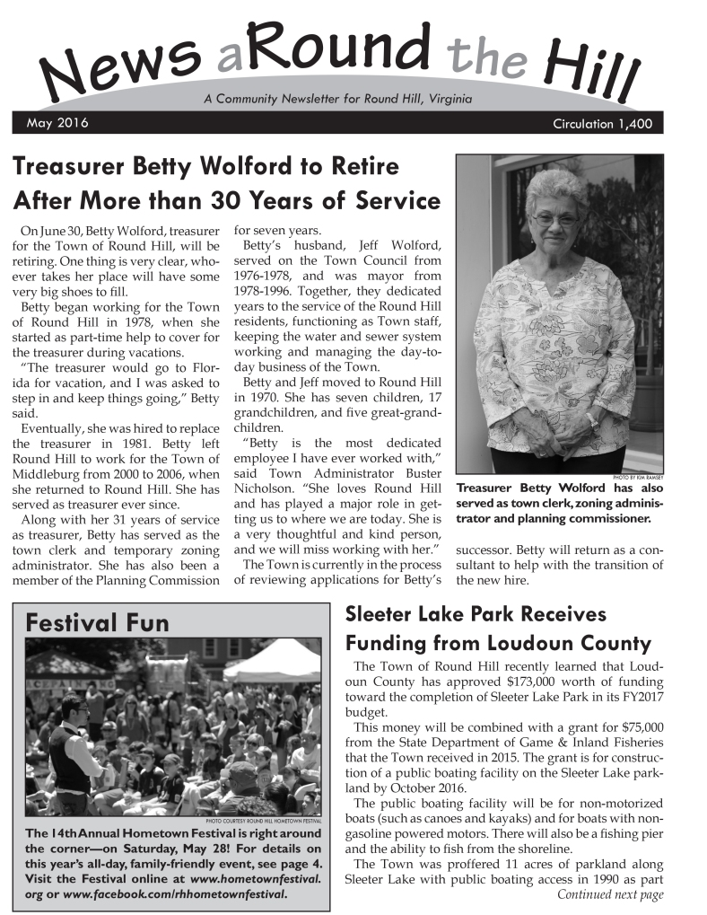 news around the hill 2016-05 page 1