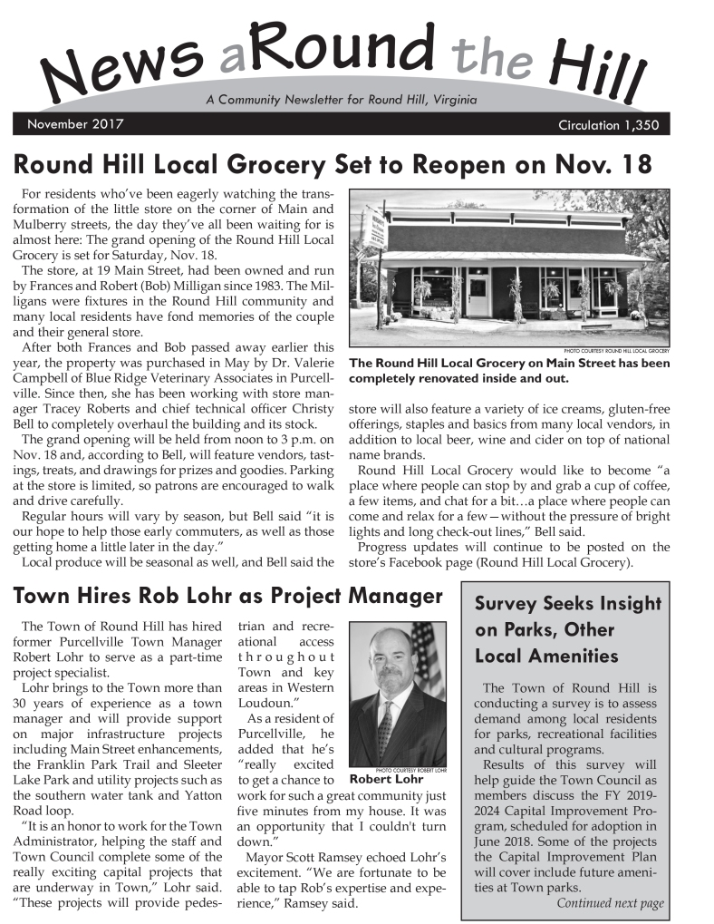 news around the hill 2017-11 page 1